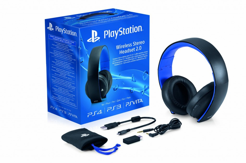 sony playstation stereo wireless headset 2 0 ps4 ps3 ps. Black Bedroom Furniture Sets. Home Design Ideas