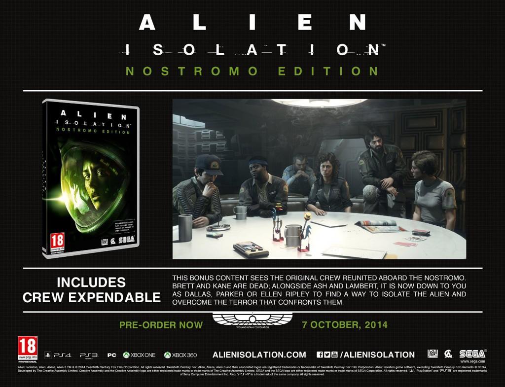 AlienIsoltion NostromoEdition