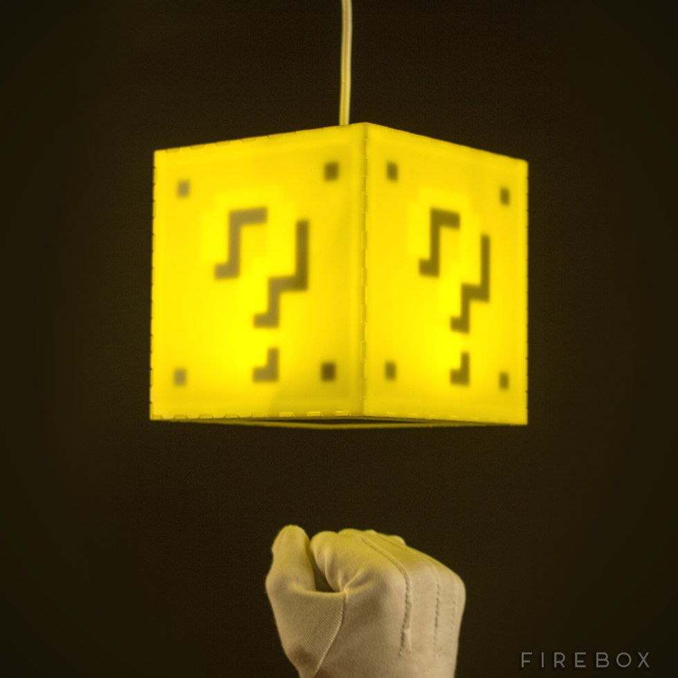 Mario Question Block Lamp