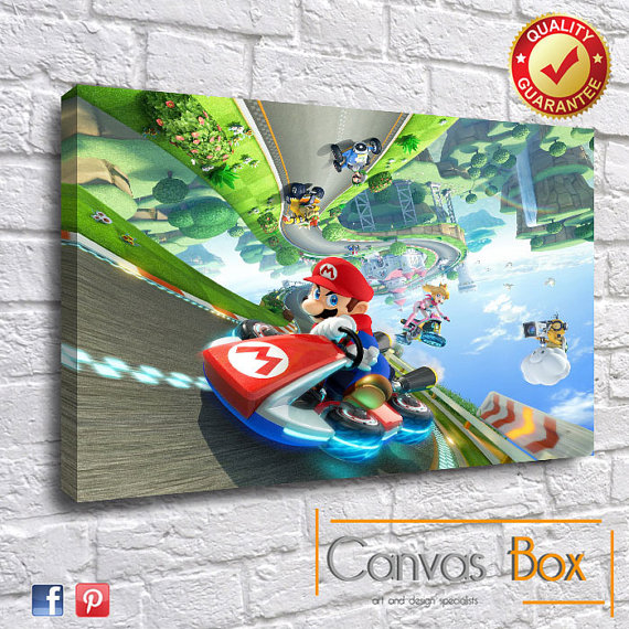 Mario Kart 8 Canvas Art