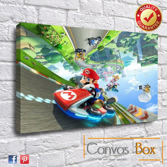 Mario Kart 8 Canvas Art