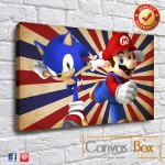 Sonic and Mario Canvas Art