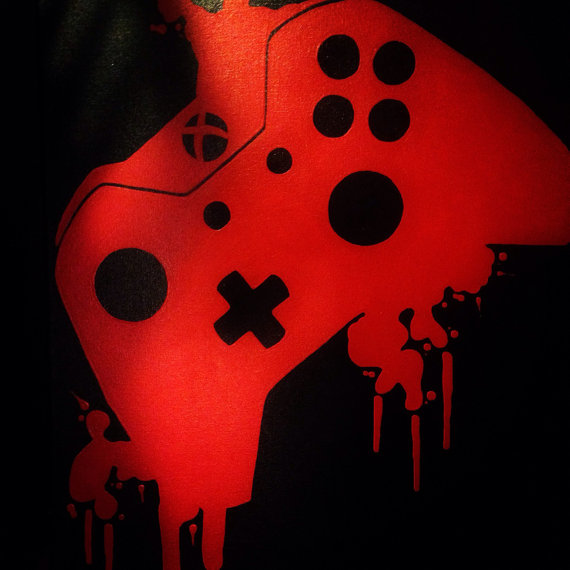 Video Game Controller Art  7